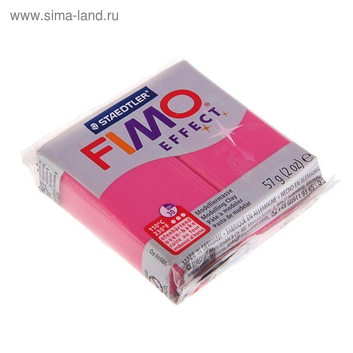 Пластика - полимерная глина 57г FIMO effect, красный кварц