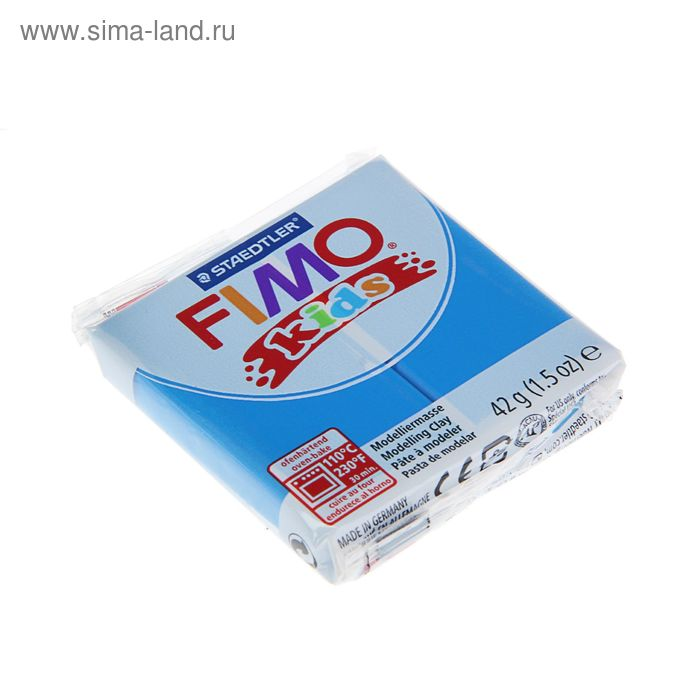 Пластика - полимерная глина для детей 42г FIMO kids, синий