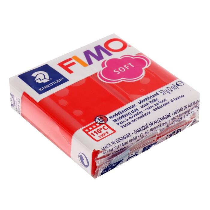 Пластика - полимерная глина 57г FIMO soft, индийский красный