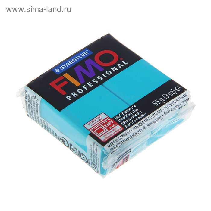 Пластика - полимерная глина 85г FIMO professional, бирюзовый