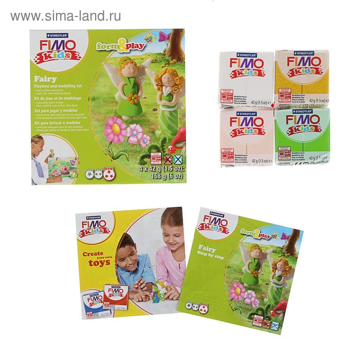 "Набор пластика - полимерная глина для детей FIMO kids form&play ""Фея"""