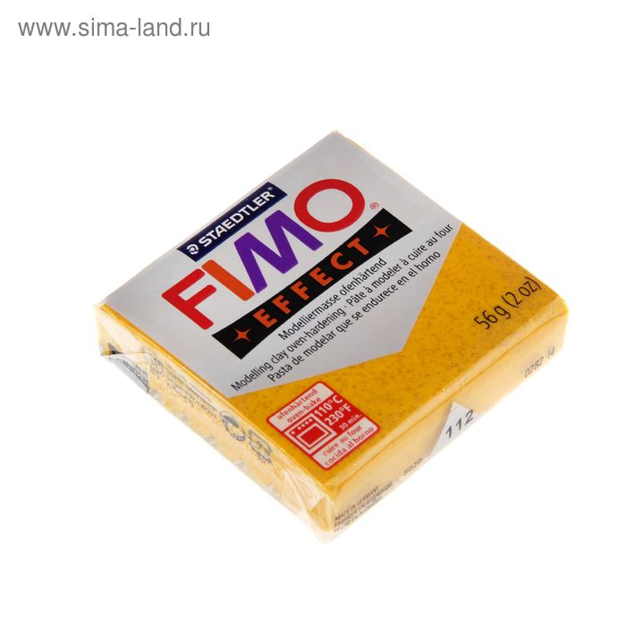 Пластика - полимерная глина 57г FIMO effect, золотой с блестками
