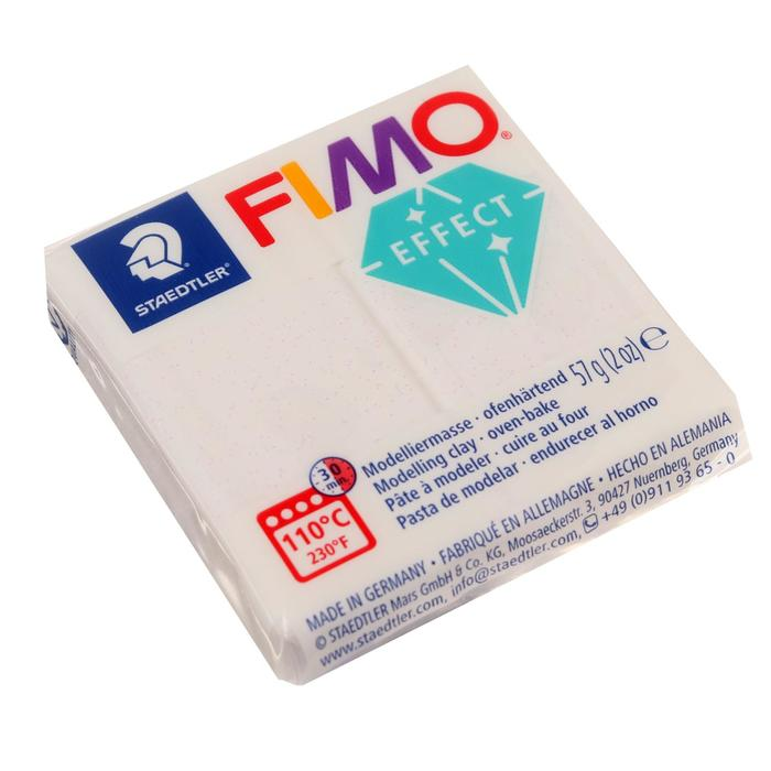 Пластика - полимерная глина 57г FIMO effect, белый с блестками