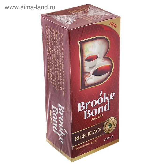Чай черный Brooke Bond, насыщенный, 25 пакетиков*1,8 г
