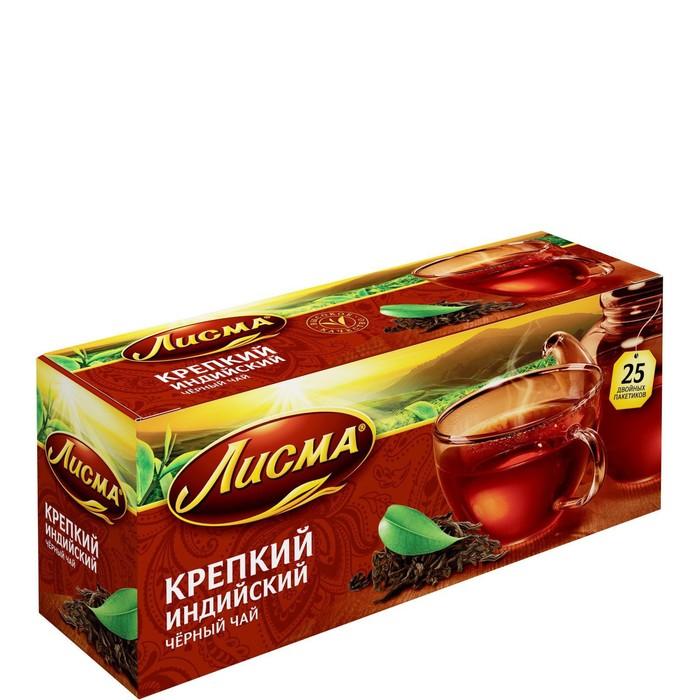 """Чай черный """"Лисма"""", крепкий, 25 пакетиков*2 г"""