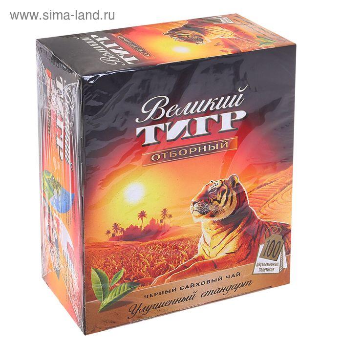 """Чай черный Grand """"Великий тигр"""", байховый, 100 пакетиков*2 г"""
