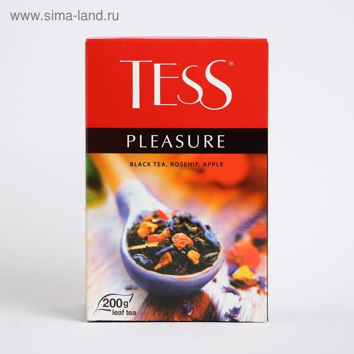 Чай черный Tess Pleasure, с шиповником и яблоком, 200 г