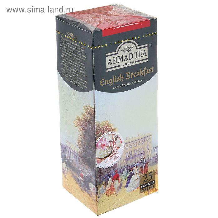 Чай черный Ahmad English Breakfast, байховый, 25 пакетиков*2 г
