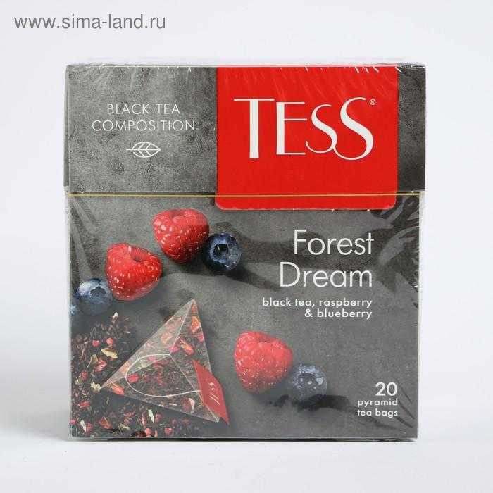Чай черный Tess Forest Dream, ежевика и малина, 20 пакетиков*1,8 г