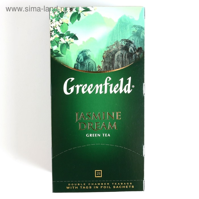 Чай зеленый Greenfield Jasmine Dream, жасмин, 25 пакетиков*2 г