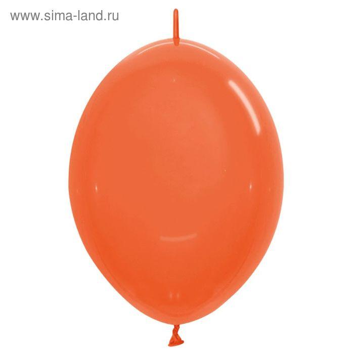 """Шар латексный 12"""", линколун, кристалл, набор 100 шт., цвет оранжевый"""