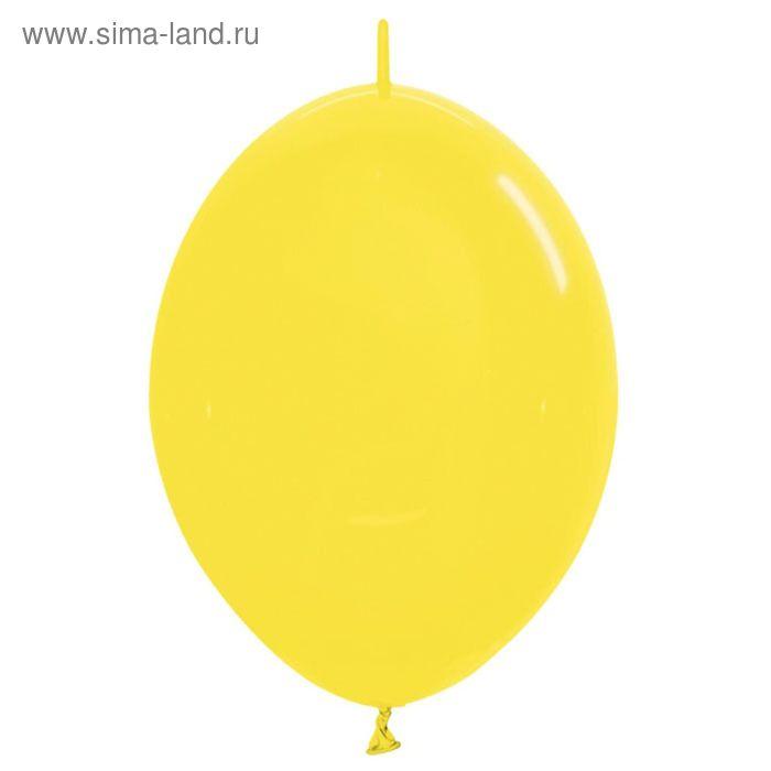 """Шар латексный 12"""", линколун, кристалл, набор 100 шт., цвет жёлтый"""