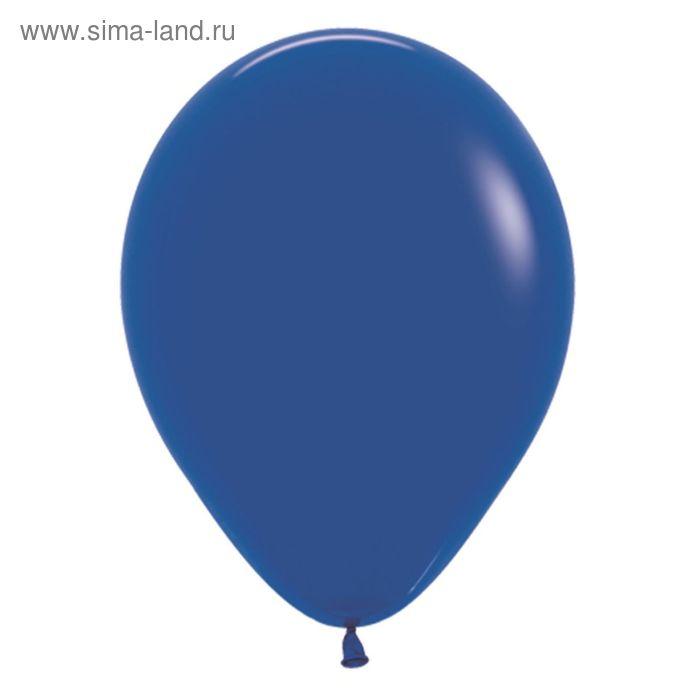 """Шар латексный 18"""", пастель, набор 25 шт., цвет синий"""
