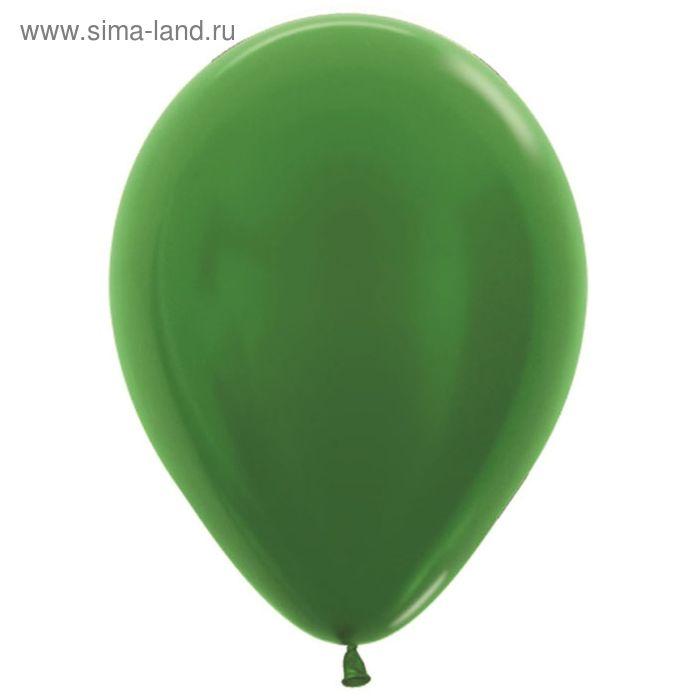 "Шар латексный 9"", металл, набор 100 шт., цвет зелёный"