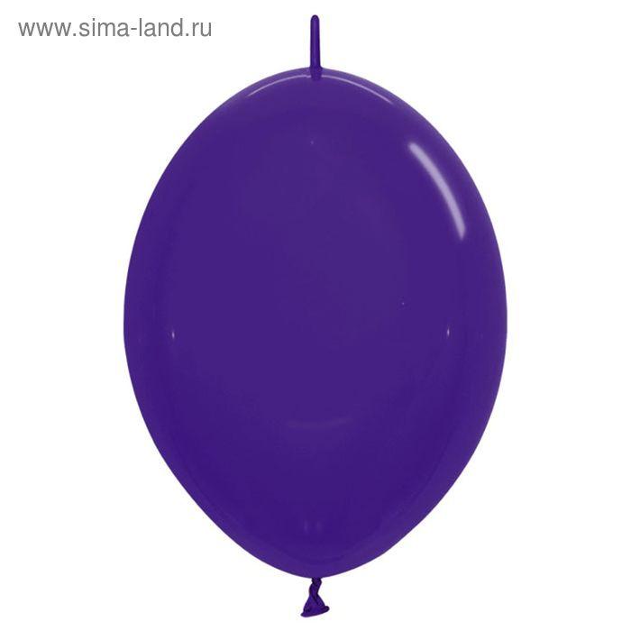 """Шар латексный 12"""", линколун, кристалл, набор 100 шт., цвет фиолетовый"""