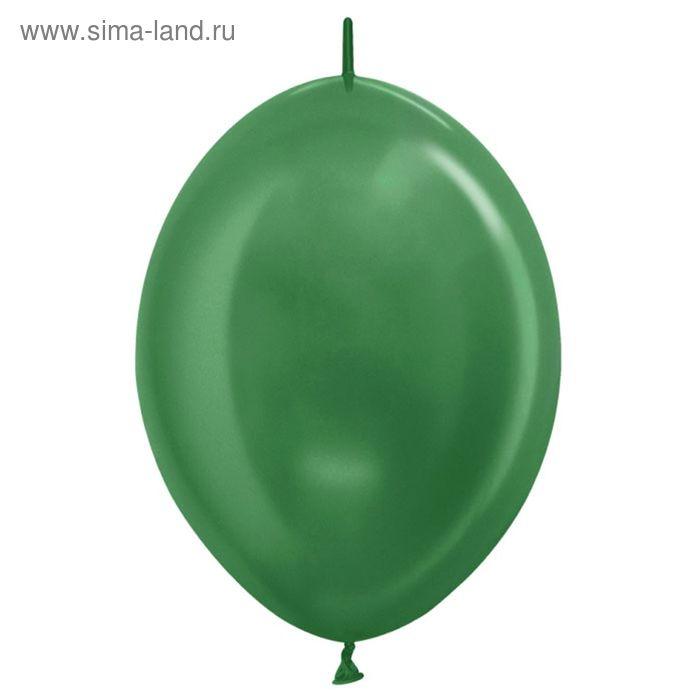 "Шар латексный 12"", линколун, металл, набор 100 шт., цвет зелёный"
