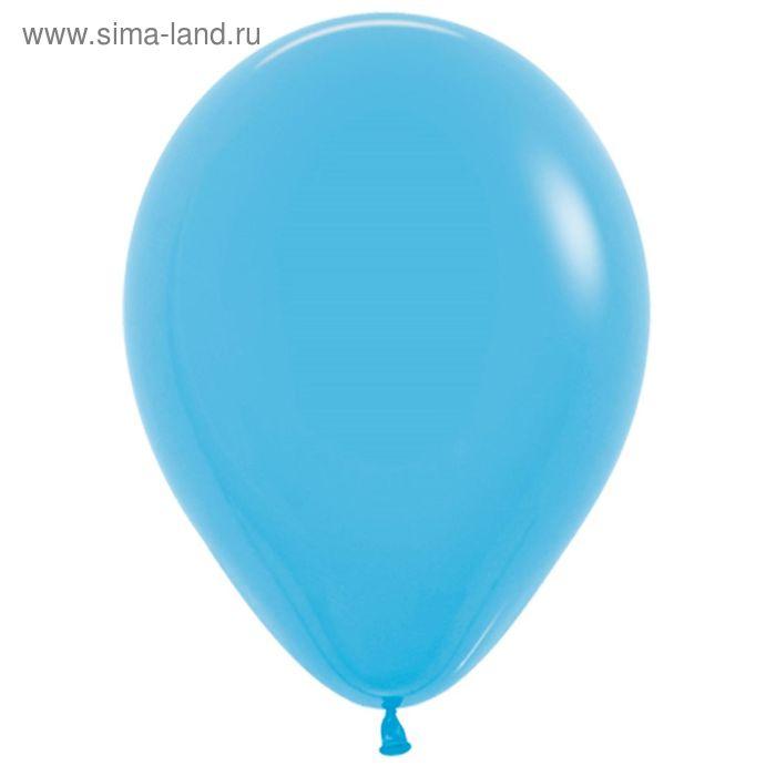 """Шар латексный 18"""", пастель, набор 25 шт., цвет голубой"""