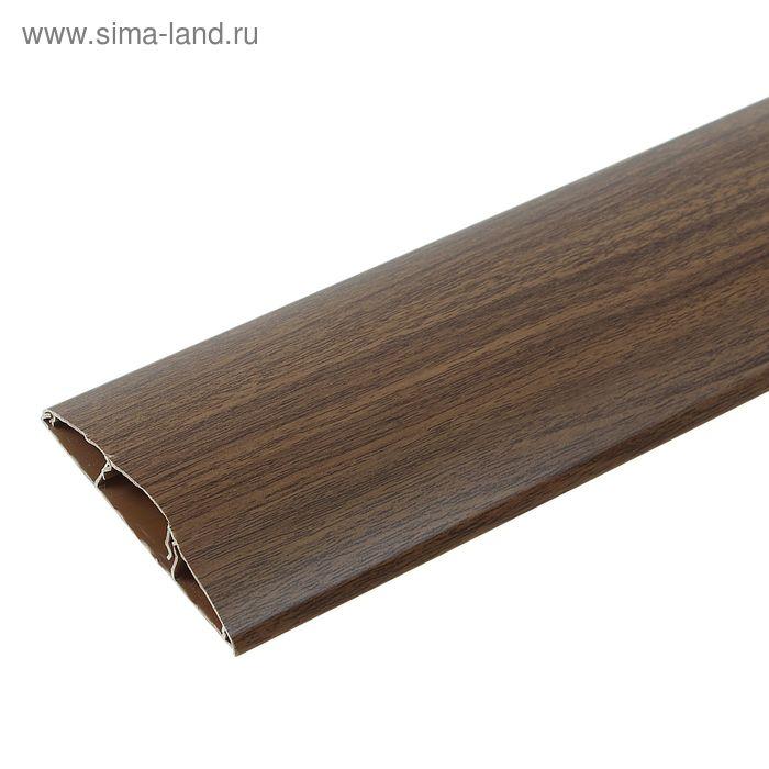 """Наличник ПВХ с кабель-каналом """"Идеал"""" орех  70*12*2200 мм"""