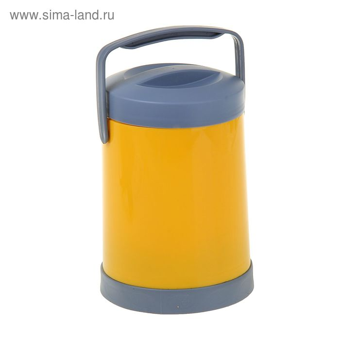Термос 1400 мл, стеклянная колба, микс, 15х15х22 см