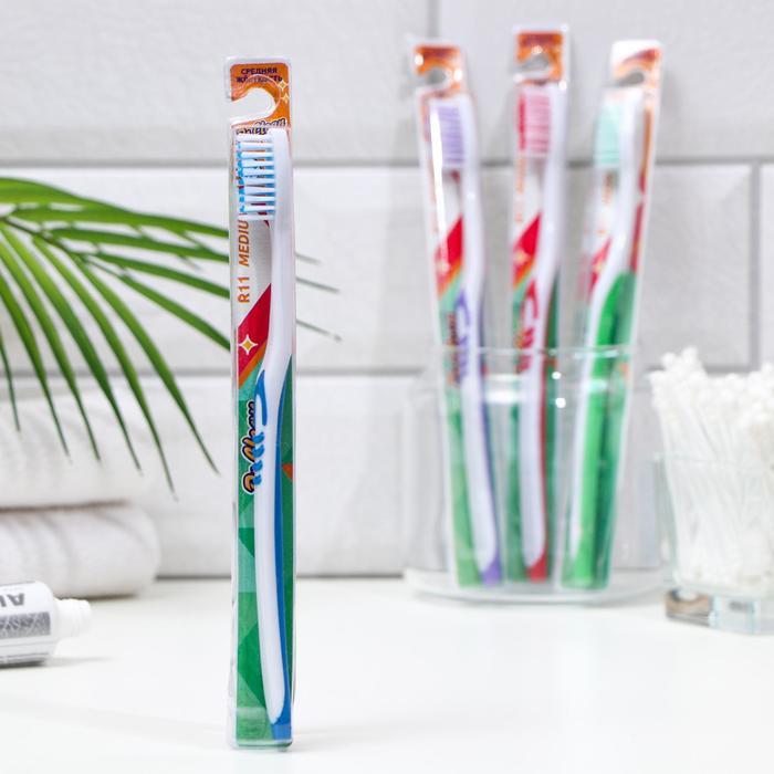 Зубная щётка Др.Клин R11 Медиум 1шт  микс