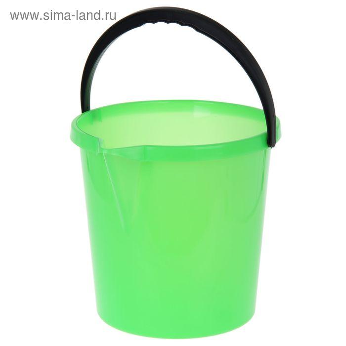 Ведро 12 л с носиком, цвет зеленый