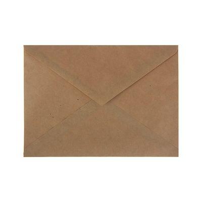 Конверт почтовый крафт С5 162х229мм треугольный клапан, клей, 90г/м, упаковка 1000шт