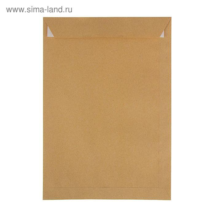 Конверт почтовый крафт С4 229x324мм силиконовая лента, 90г/м, упаковка 25шт