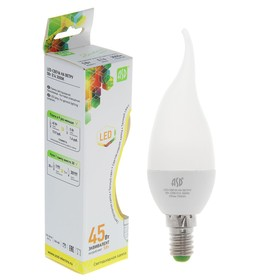 "Лампа светодиодная ASD, Е14, 5 Вт, 160-260 В, 3000 К, ""свеча на ветру"""
