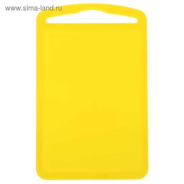 "Доска разделочная 28х18 см ""Комфорт"", цвет желтый"