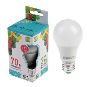 Лампа светодиодная ASD, Е27, 7 Вт, 210 - 240 В, 4000 К