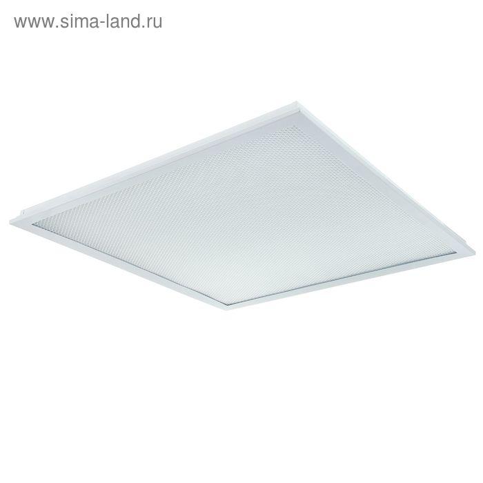 """Панель светодиодная ASD LP-eco """"Призма"""", 36 Вт, 6500 К, 3000 Лм, 595х595 мм, без ЭПРА, белая"""