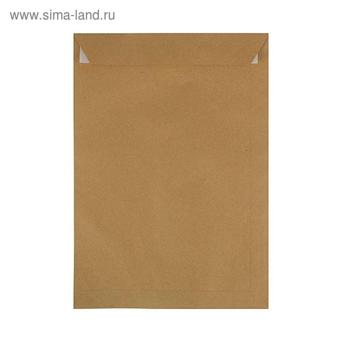 Конверт почтовый крафт С4 229x324мм силиконовая лента, 90г/м, упаковка 250шт