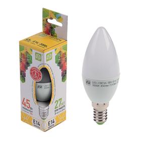 """Лампа светодиодная ASD, Е14, 5 Вт, 210 - 240 В, 3000 К, """"свеча"""""""