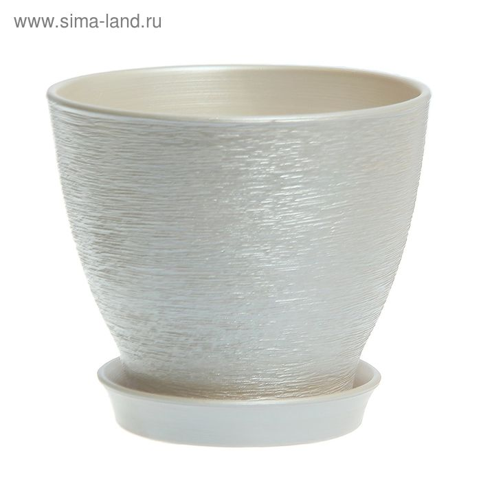 "Кашпо ""Ксения"" глянец, серебро, 3 л"