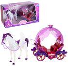 """Карета для кукол """"Для принцессы"""" лошадка ходит, звуковые эффекты"""