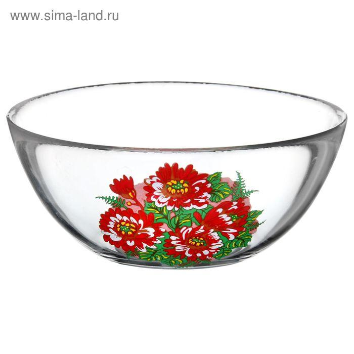 """Салатник 250 мл """"Красная хризантема"""", d=13 см"""