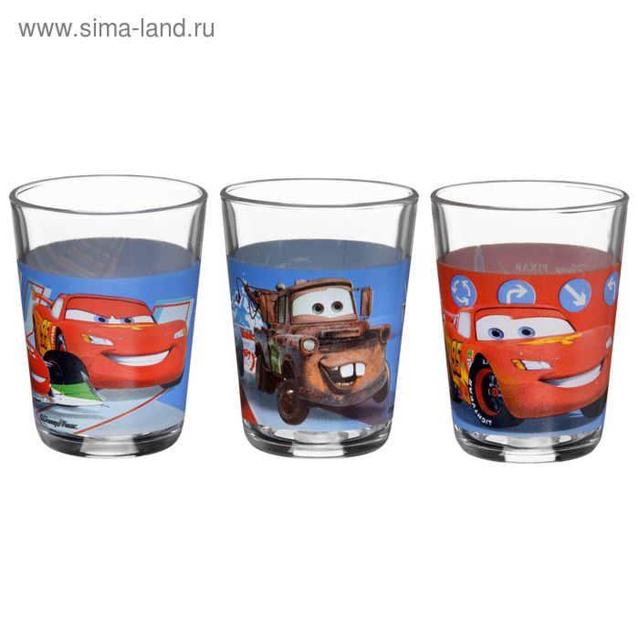 """Набор стаканов 160 мл """"Тачки. Дисней"""", 3 шт"""