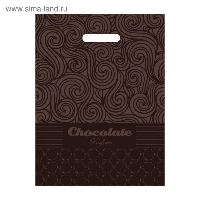 """Пакет """"Перфекто Шоколад"""", полиэтиленовый с вырубной ручкой, 37х30 см, 90 мкм"""