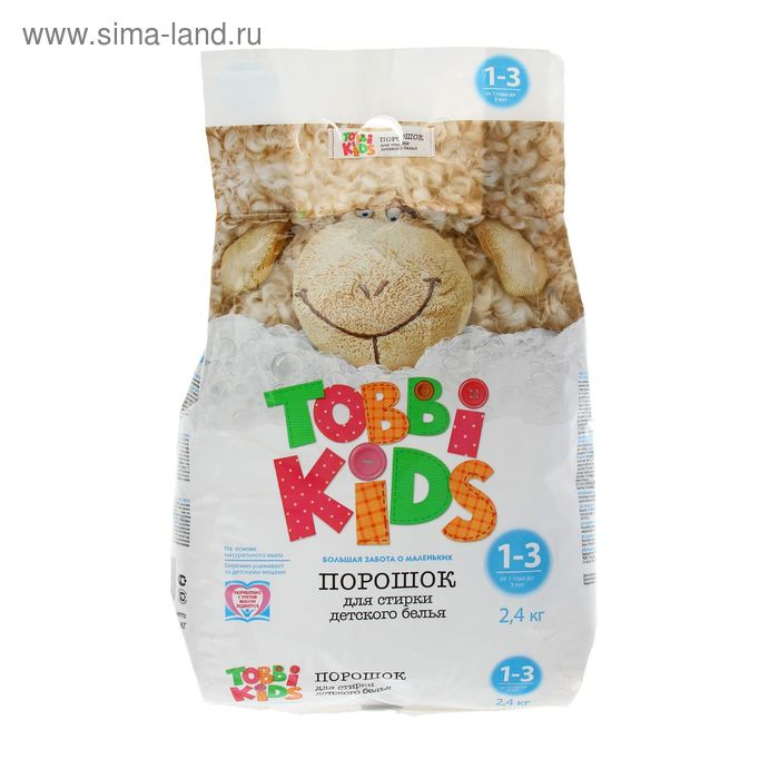 Стиральный порошок Tobbi Kids 1-3 лет для детского белья, автомат 2,4 кг