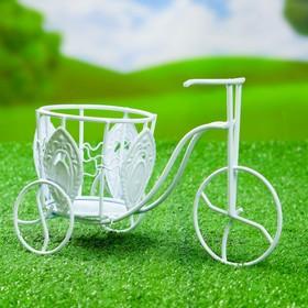 """Кашпо """"Велосипед"""" среднее, цветы, изогнутый руль"""