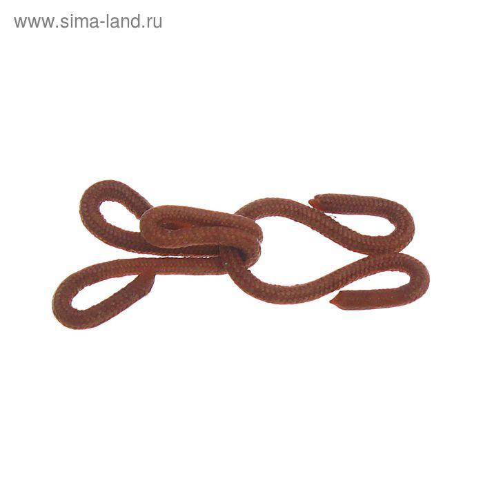 Крючки шубные обтяжные, 10шт, цвет коричневый