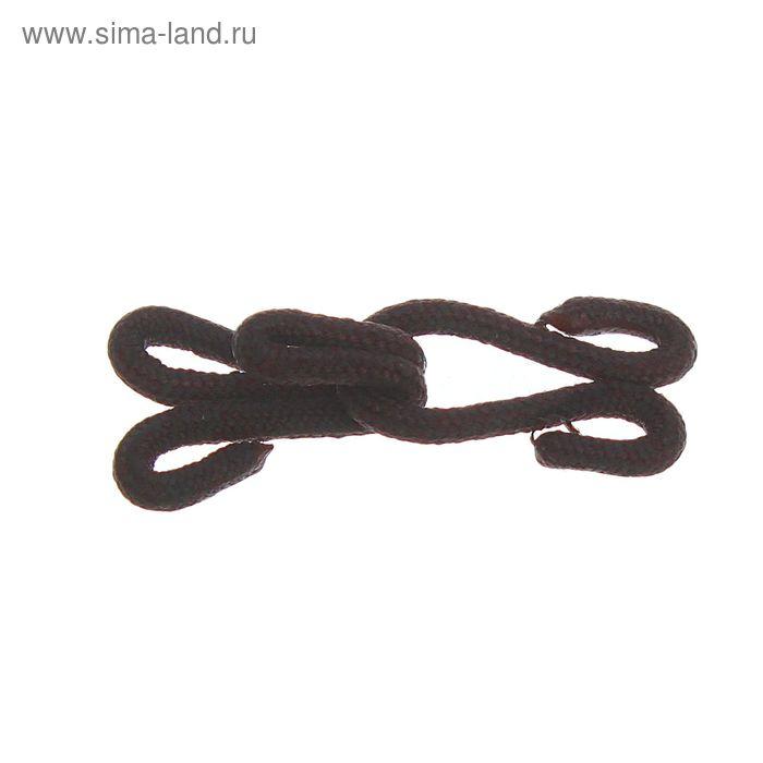 Крючки шубные обтяжные, 10шт, цвет тёмно-коричневый