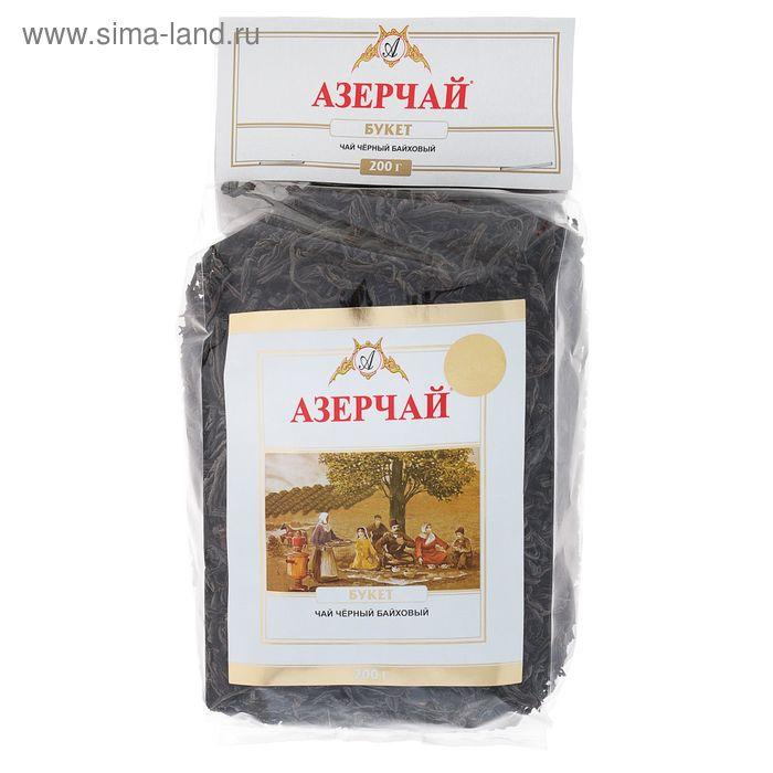 Чай черный Азерчай Buket Tea, крупнолистовой, мягкая упаковка, 200 г