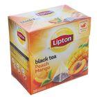 Чай черный Lipton Peach Mango, пресик и манго, 20 пакетиков*1,8 г