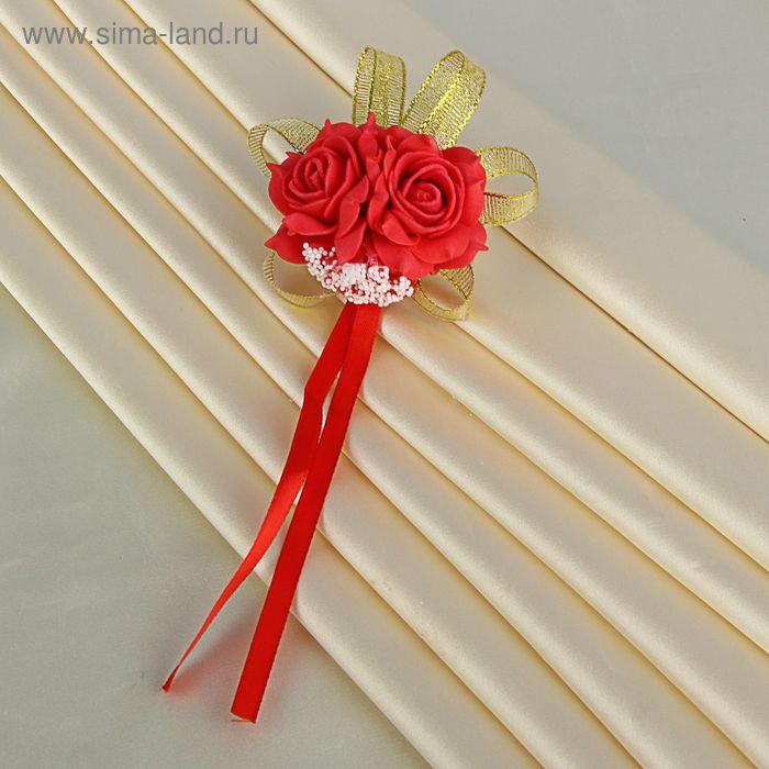 Повязка на руку «Розы», красная
