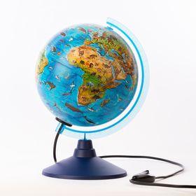 Глобус зоогеографический Детский диаметр 210мм 'Классик евро', с подсветкой Ош