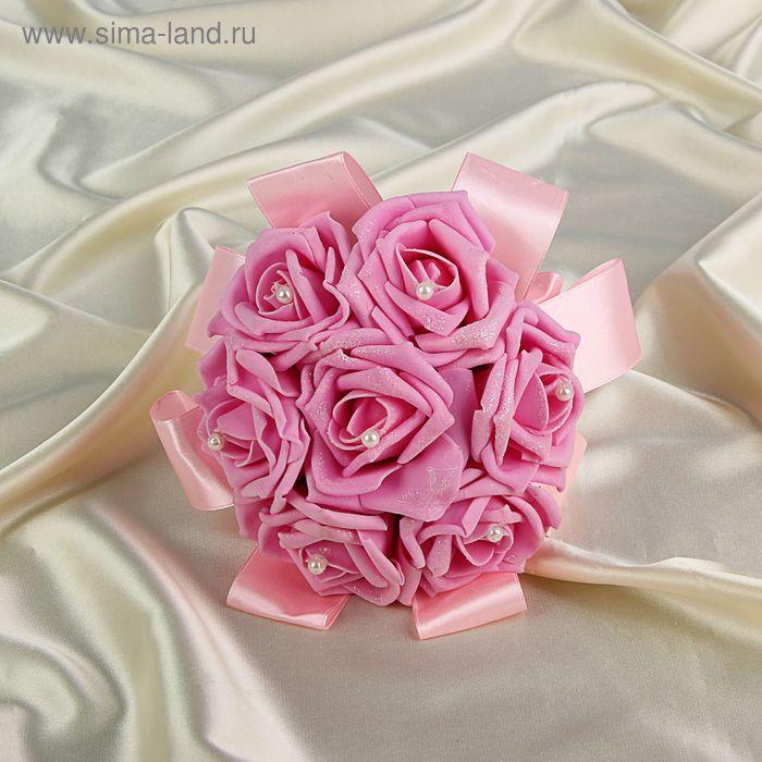 Дублер букета невесты с розами премиум розовый 7 шт