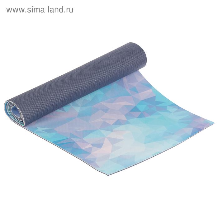 Коврик для йоги 5 мм, цвета МИКС