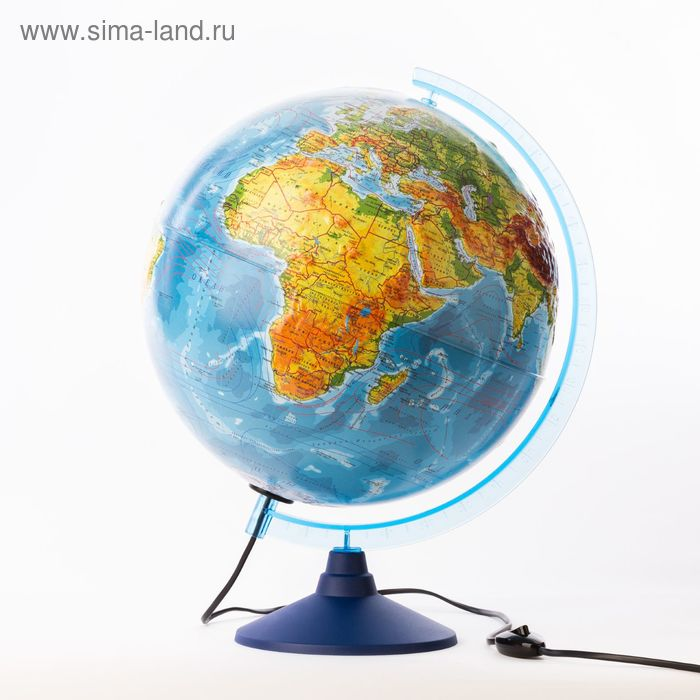 """Глобус физический рельефный диаметр 320мм """"Классик Евро"""", с подсветкой"""