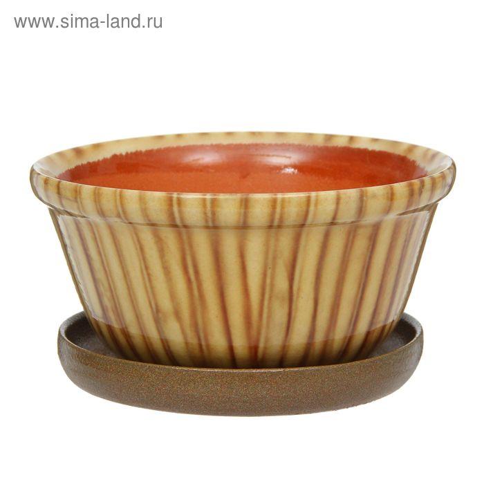 "Кашпо ""Бамбук"" коричневое 1,5 л"